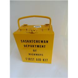 Department of Highways Steel Empty First Aide Kit