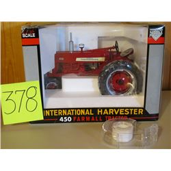 "1/16 Scale IH Farmall 450 Tractor Toy- 10""x7.5 Die Cast"