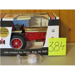 International 656 Golden Demonstrator Tractor Toy