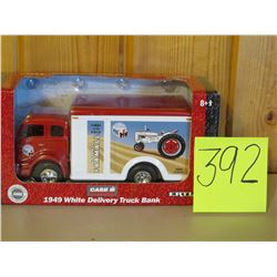 1/25 Scale 1949 white Delivery truck coin bank (Limited Edition one of 1250) toy Ertl Die Cast