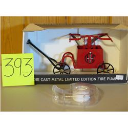 "Fire Pumper Limited Ediion Die Cast Toy Die Cast Limited Edition 10""x5"""