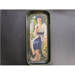 1923 Ad Girl Coca Cola Tray-printed in Us 1973-19x8.5
