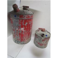 2.5 Gallon+ 1 Gallon Antique Gas Cans (Red)