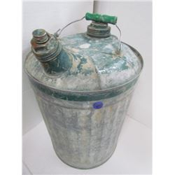 1-2.5 Gallon Antique Gas Can Green