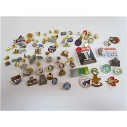 Lot of Misc Sports Pins Collection