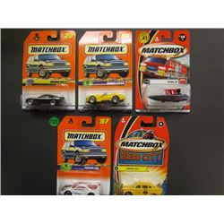 Matchbox Mazda RX-7 #20, Dodge Viper #56, Hydro Jet #14 50th anniversary, Ferrari F40, Hero City Col