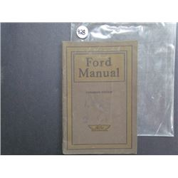 Ford Manual, Canadian Edition, January 1917 64pgs