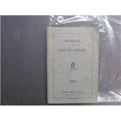 Cadillac Motor Car Co., Manual of Care and Operation, 1914 75pgs