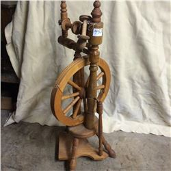 "Primitive Spinning Wheel- Operational 44"" H"