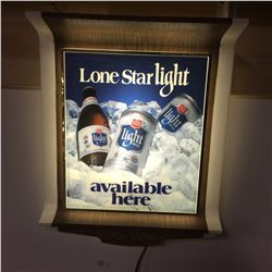"Beer Sign-Lite up Advertising + Lonestar Lite 12W-15"" H"
