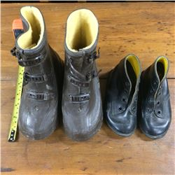 2 Pair Childs Boots and Shoes-Good Condition