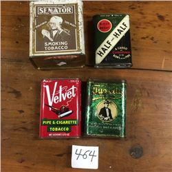 4 Tobacco Tins-3 pocket and 1 Square can