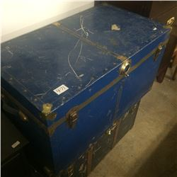 Metal Steamer Trunk