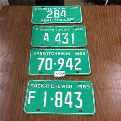 1969 License plates - Some low digits