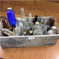 Crate of Assorted Bottles-medicine Etc 25 piece