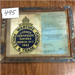 1942 WWII Business License