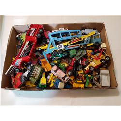 Large Lot Of Vintage Car/Tractor/Truck Toys