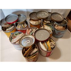 Tobacco Tins Lot 3 Full of CPR Documents from 1960s