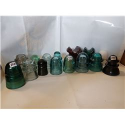 15 Different Insulators- one rubber some rare