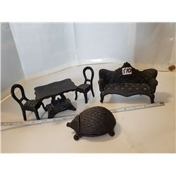 Old Cast Iron Furniture and Hedgehog