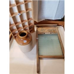 Washboard ,Jug,Shelf, Lot