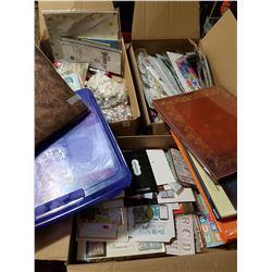 3 Big Boxes of Scrapbooking Stuff + Albums