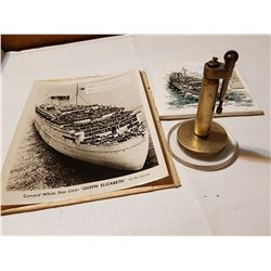 WW2 Bullet Lighter and Queen Elizabeth Ship WW2 Items