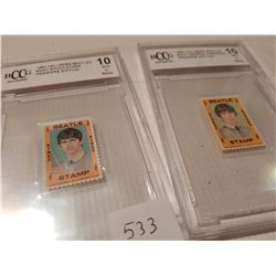 2 Certified Beatles Stamps, 10 +,Ringo and George