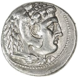 MACEDONIA: Alexander III, the Great, 336-323 BC, AR tetradrachm (17.13g). VF-EF