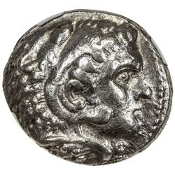MACEDONIA: Alexander III, the Great, 336-323 BC, AR tetradrachm (17.20g). NGC MS