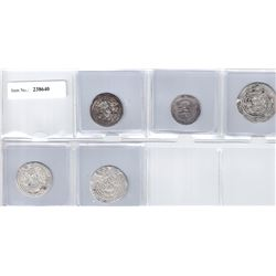ARAB-SASANIAN: LOT of 5 silver coins
