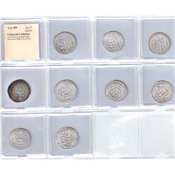 UMAYYAD: LOT of 9 silver dirhams of the Wasit mint