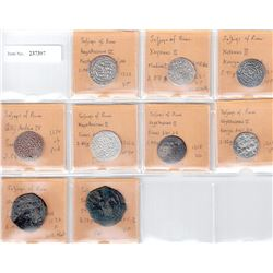SELJUQ OF RUM: LOT of 9 coins