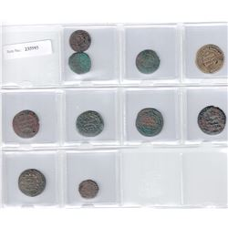 SAFFARID: LOT of 10 copper coins