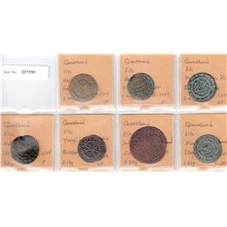 QARAKHANID: LOT of 7 copper coins