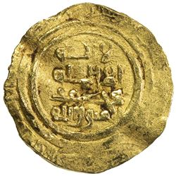 ASSASSINS AT ALAMUT: Muhammad I, 1138-1162, AV 1/4 dinar (0.98g) (Kursi al-Daylam), DM. F