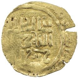 GREAT MONGOLS: Anonymous, ca. 1220s-1230s, AV dinar (2.94g), Bukhara, ND. VF