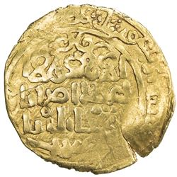GREAT MONGOLS: temp. Ogedei, 1227-1241, AV dinar (3.35g), Qara Qorum, ND. F-VF