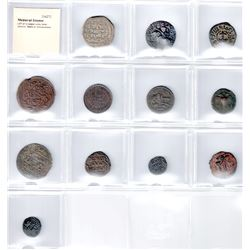 MEDIEVAL ISLAMIC: LOT of 12 copper coins, better selection