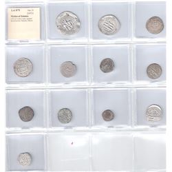 MEDIEVAL ISLAMIC: LOT of 12 silver coins, standard denominations