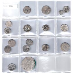 MEDIEVAL ISLAMIC: LOT of 17 silver coins
