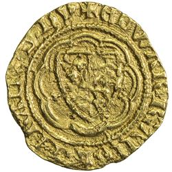ENGLAND: Edward III, 1327-1377, AV 1/4 noble (1.91g), London. VF