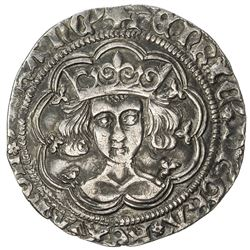 ENGLAND: Henry VI, 1422-1461, AR groat (3.79g), ND [1430-1]. VF
