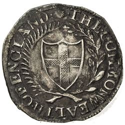 ENGLAND: Commonwealth and Protectorate, 1649-1660, AR shilling (5.70g), 1653. VF
