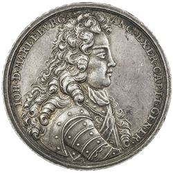 GREAT BRITAIN: AR medal, 1704, Eimer-407, 37mm, silver medal by Georg Hautsch of Nürnberg, AU