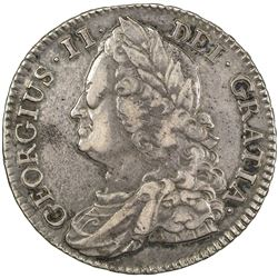 GREAT BRITAIN: George II, 1727-1760, AR 1/2 crown, 1745. VF
