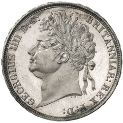 GREAT BRITAIN: George IV, 1820-1830, AR crown, 1821. AU