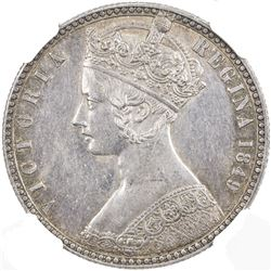 GREAT BRITAIN: Victoria, 1837-1901, AR florin, 1849. NGC AU