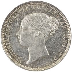 GREAT BRITAIN: Victoria, 1837-1901, AR sixpence, 1873. NGC MS63
