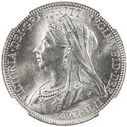 GREAT BRITAIN: Victoria, 1837-1901, AR florin, 1901. NGC MS63
